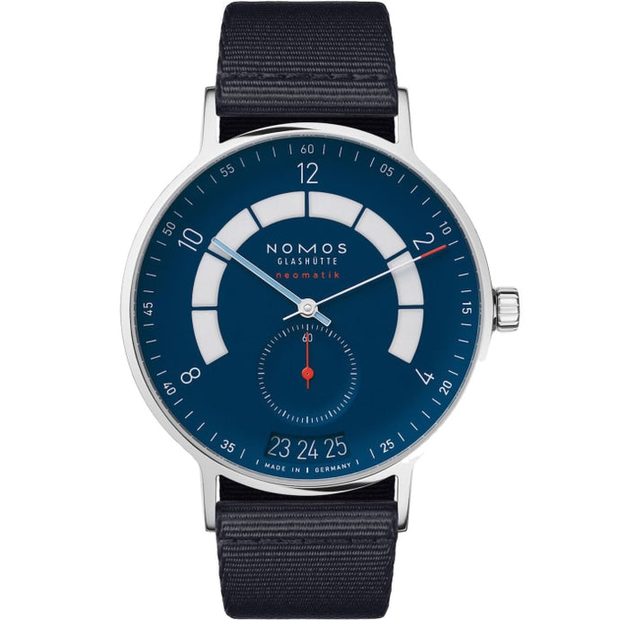 Nomos Glashutte Autobahn Neomatik Date 41mm Stainless Steel/Textile (Ref. 1302) - WATCHES Boston