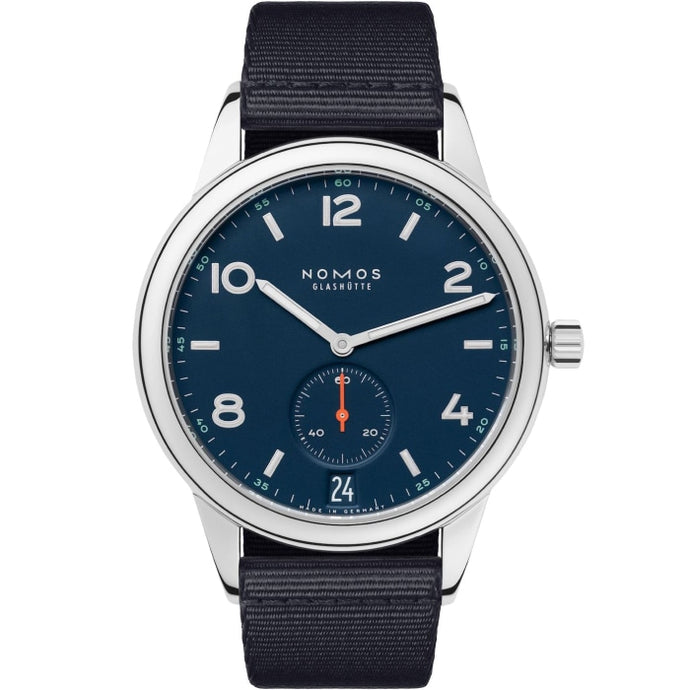 Nomos Glashutte Club Automat Datum Atlantik 41.5 Stainles Steel/Textile (Ref. 776) - WATCHES Boston
