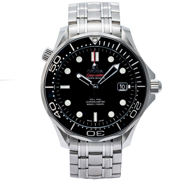 Omega Seamaster Diver 300 M Co-Axial Black Dial 41mm (212.30.41.20.01.003) - Boston
