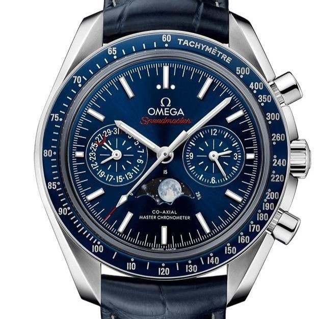 Omega Speedmaster Moonwatch Co-Axial Master Chronometer Moonphase Chronograph 44.25mm (304.33.44.52.03.001) - WATCHES Boston