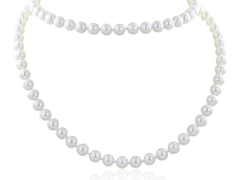 Opera Length Pearl Necklace - Jewelry Boston