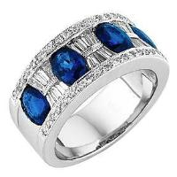 Oval Cut Sapphire Ring & Diamond Ring - Jewelry Boston