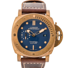 Load image into Gallery viewer, Panerai Submersible 1950 Bronzo Blue Dial Limited Edition 47Mm (Pam00671) - Boston