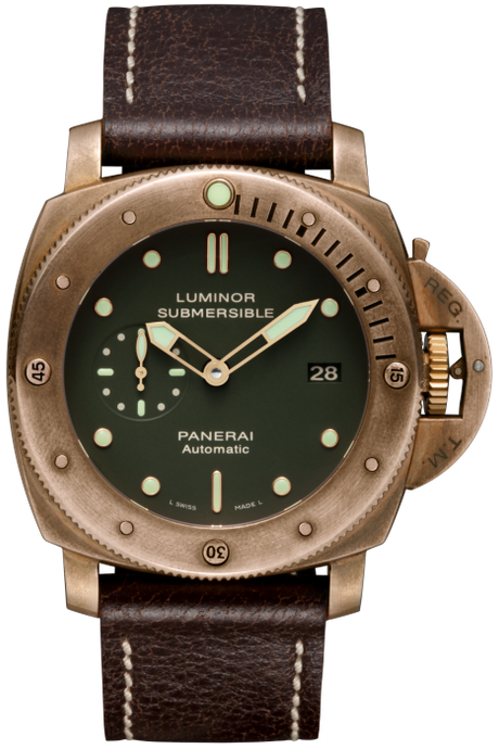 Panerai Submersible 1950 Bronzo Limited Edition 47Mm (Pam00382) - Watches Boston