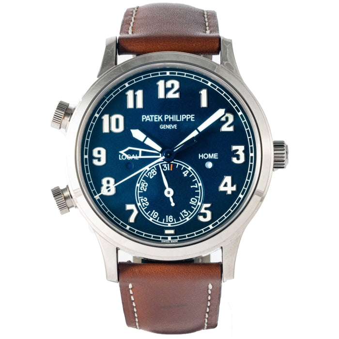 Patek Philippe 5524G-001 Calatrava Pilot Travel Time White Gold 42mm (5524G-001) - Boston
