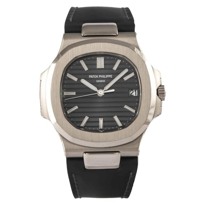 Patek Philippe Nautilus Grey Dial White Gold 40mm (5711G-001) - Boston