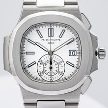 Load image into Gallery viewer, Patek Philippe 5980/1A Nautilus White Dial Chronograph Stainless Steel 40.5mm ref. 5980/1A-019 - Boston