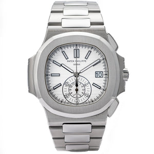 Patek Philippe 5980/1A Nautilus White Dial Chronograph Stainless Steel 40.5mm ref. 5980/1A-019 - Boston