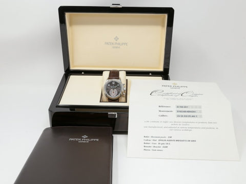 Patek Philippe Annual Calendar Chronograph Platinum 40Mm (5960P-001) - Watches Boston