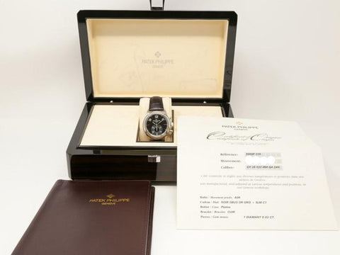 Patek Philippe Annual Calendar Chronograph Platinum 40Mm (5960P-016) - Watches Boston