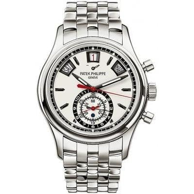 Patek Philippe Annual Calendar Chronograph Stainless Steel 40Mm (5960A-001) - Watches Boston
