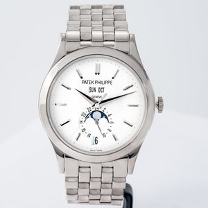 Patek Philippe Calatrava Annual Calendar Opaline Dial White Gold 38.5mm (5396/1G-001) - Boston