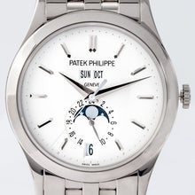 Load image into Gallery viewer, Patek Philippe Calatrava Annual Calendar Opaline Dial White Gold 38.5mm (5396/1G-001) - Boston