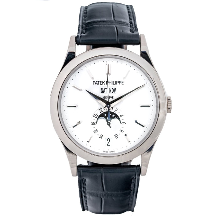 Patek Philippe Calatrava Annual Calendar Opaline Dial White Gold 38.5mm (5396G-011) - Boston