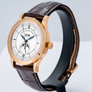 Patek Philippe Calatrava Annual Calendar Sector Dial Rose Gold 38.5mm (5396R-011) - Boston