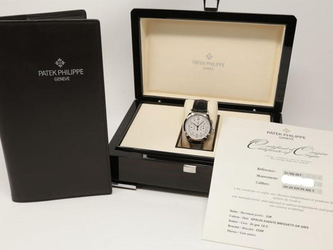 Patek Philippe Chronograph White Gold 39Mm (5170G-001) - Watches Boston