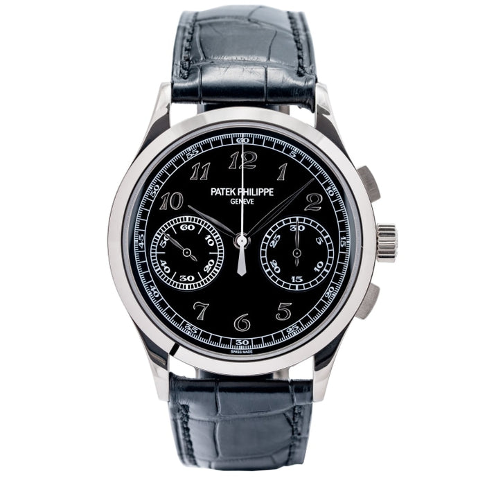Patek Philippe Chronograph White Gold Black Dial 39mm (5170G-010) - Boston