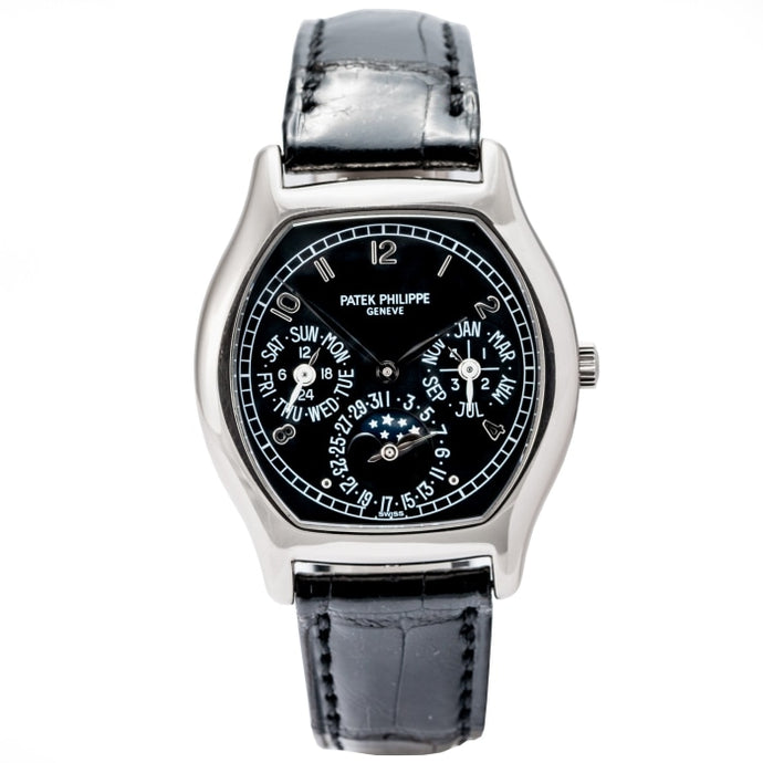 Patek Philippe Perpetual Calendar White Gold Tonneau Case 35mm (5040G-016) - Boston