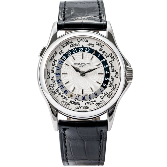 Patek Philippe World Time White Gold 37mm (5110G) - Boston