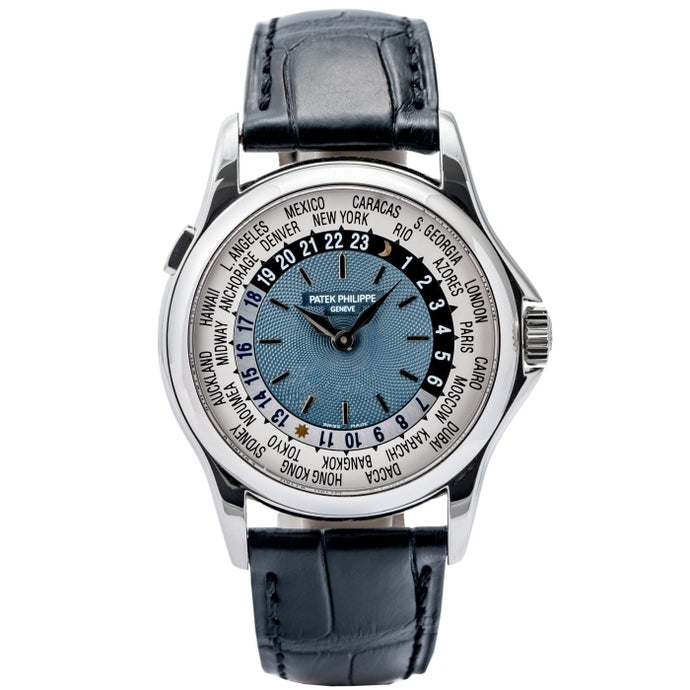 Patek Philippe Worldtime Blue Enamel Dial Platinum 37mm (5110P-001) - Boston