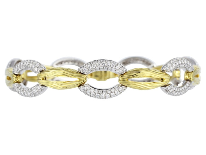 Pave Diamond Link Bracelet - Jewelry Boston