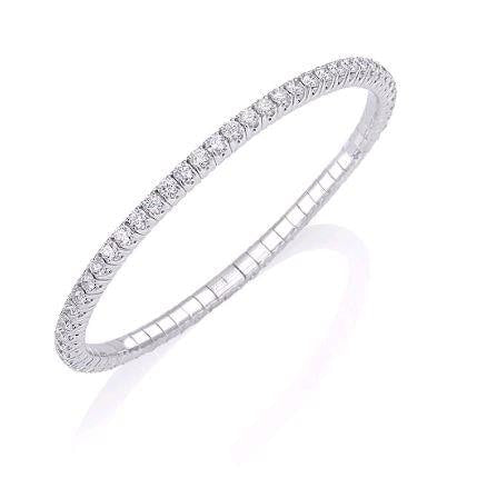 Picchiotti 4.68 Carat Expandable Diamond Tennis Bracelet (18K White Gold) - Jewelry Boston