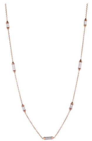 Picchiotti 6.05 Carat Diamond Necklace (18K Pink & White Gold) - Jewelry Boston