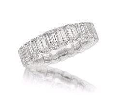 Picchiotti 6.47 Carat Expandable Eternity Style Diamond Ring (18K White Gold) - Jewelry Boston