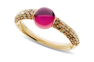 Pomelatto~0.36Ctw Mama Non Mama Pink Tourmaline Ring - Jewelry Designers Boston