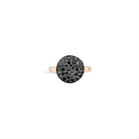 Pomelatto~0.60Ctw Sabbia Black Diamond Ring - Jewelry Designers Boston