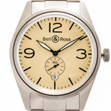 Pre-Owned Bell And Ross Vintage Br 123 Officer Stainless Steel 41Mm (Brv123-Bei-St/sst) - Watches Boston