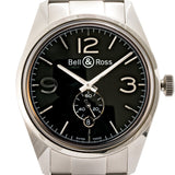 Pre-Owned Bell And Ross Vintage Br 123 Officer Stainless Steel 41Mm (Brv123-Bl-St-Sst) - Watches Boston