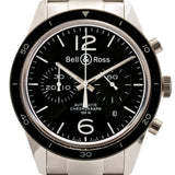 Pre-Owned Bell & Ross Br126 Officer Chronograph Stainless Steel 41Mm (Brg126-Bl-St/sst) - Watches Boston