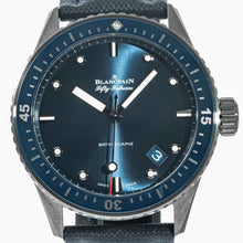 Load image into Gallery viewer, Pre-owned Blancpain Fifty Fathoms Bathyscaphe Grey Ceramic 43.6mm (5000-0240-O52A) - Boston