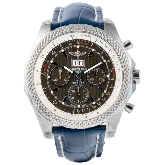Pre-owned Breitling Bentley 6.75 Speed Chronograph Stainless Steel 49mm (A4436412/F568) - Boston