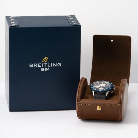 Pre-owned Breitling Chronoliner Blue Dial Chronograph GMT Stainless Steel 46mm (Y2431016/C970/277S) - Boston