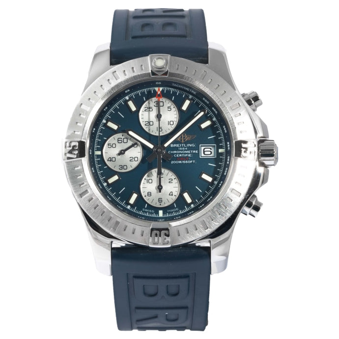 Pre-owned Breitling Colt Chronograph Automatic Stainless Steel 44mm (A1338811) - Boston