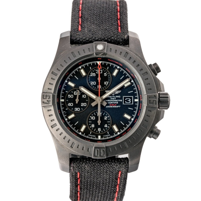 Pre-owned Breitling Colt Chronograph Blackened Steel 44mm (M133881A) - Limited Edition - Boston
