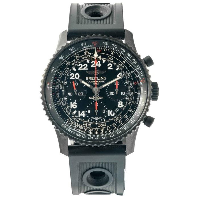 Breitling Navitimer Cosmonaute Automatic Chronograph BlackSteel 43mm (MB0210B6/BC79) - Boston