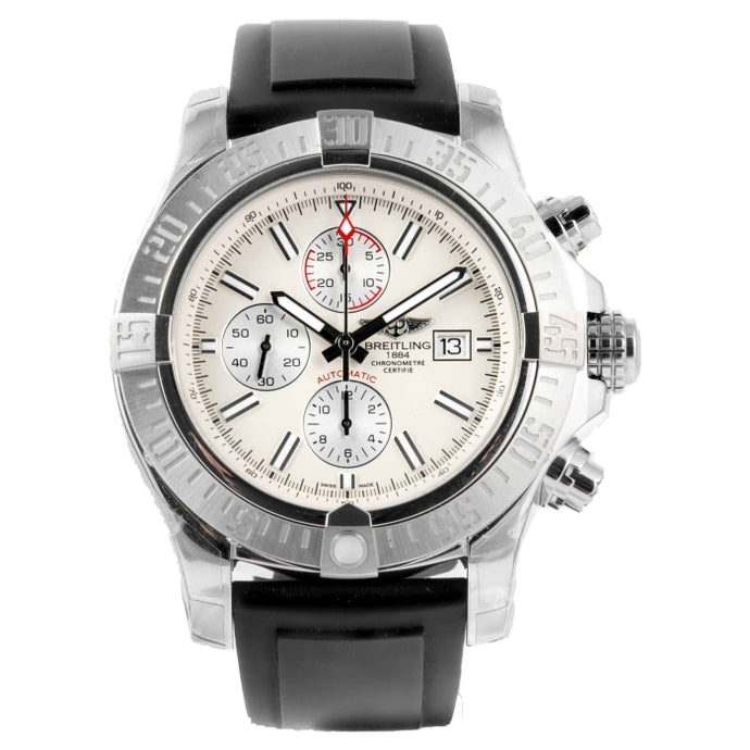 Pre-owned Breitling Super Avenger II Chronograph Stainless Steel 48m (A1337111/G779) - Boston
