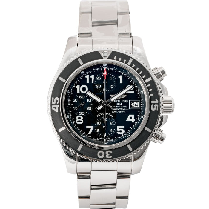 Pre-owned Breitling Superocean Chronograph Stainless Steel 42mm (A13311C9/BE93/161A) - Boston