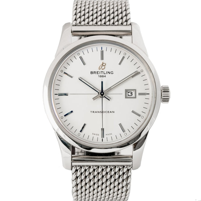 Pre-owned Breitling Transocean Date Stainless Steel 43mm (A10360) - Boston