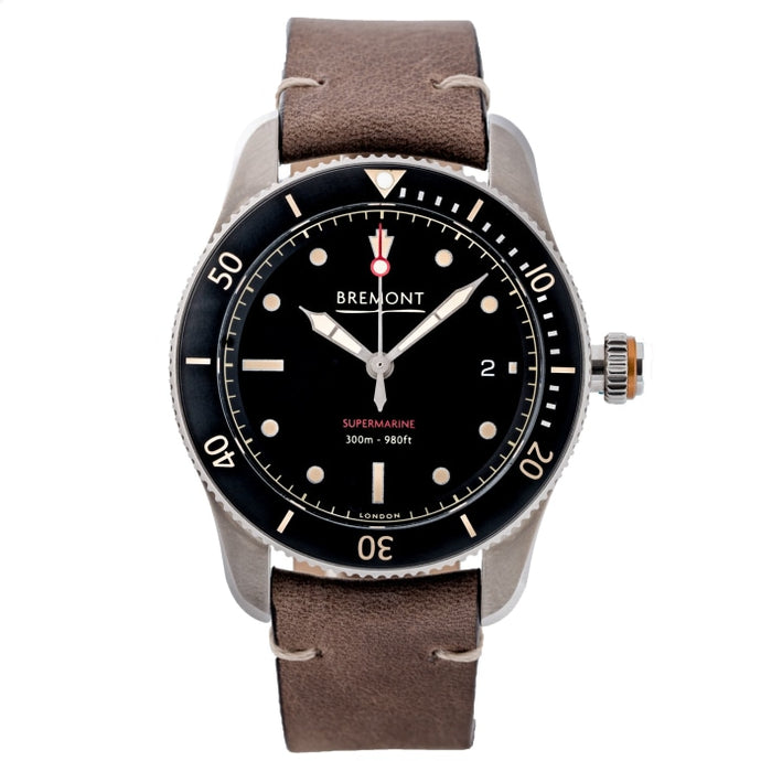 Pre-owned Bremont Supermarine Type 301 40mm Stainless Steel (S301/BK) - WATCHES Boston