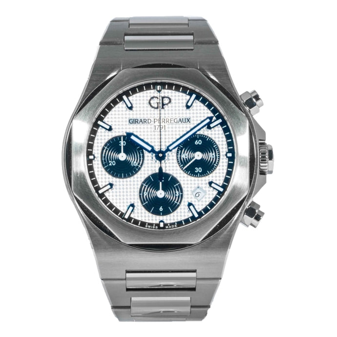Pre-owned Girard-Perregaux Laureato Chronograph Panda Dial Stainless Steel 42mm (81020-11-131-11A) - Boston