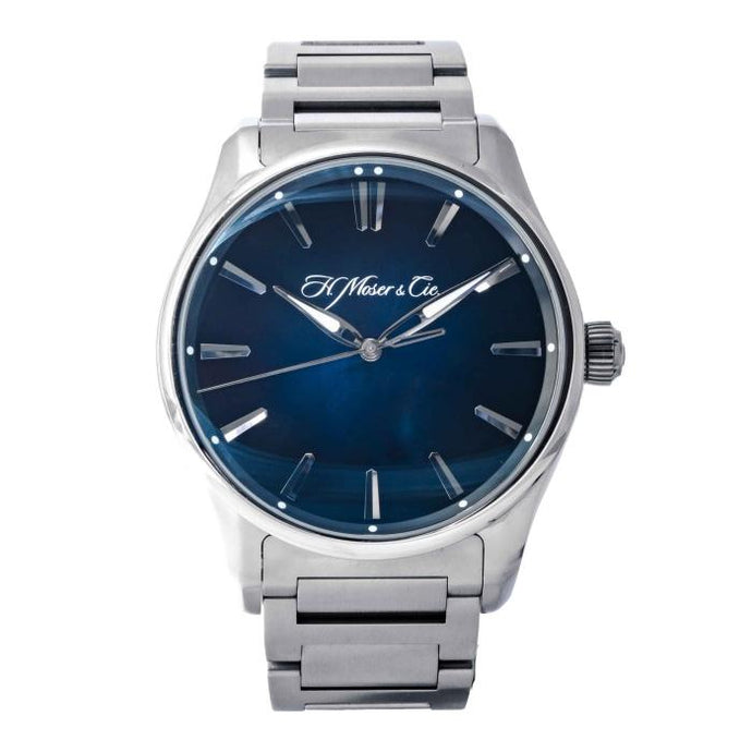 H. Moser & Cie. Pioneer Centre Seconds Blue Dial Stainless Steel 42.8mm (3200-1200) - Boston