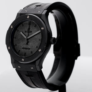 Pre-owned Hublot Berluti Special Edition Classic Fusion Black Ceramic 45mm (511.CM.0500.VR.BER16) - Boston