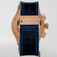 Load image into Gallery viewer, Pre-owned Hublot Classic Fusion Blue Dial Chronograph Rose Gold 45mm (521.OX.7180.LR) - Boston