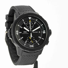 Load image into Gallery viewer, IWC Aquatimer Chronograph Edition Galapagos Islands Stainless Steel with vulcanized black rubber-coating 45mm ref. IW379502 - Boston