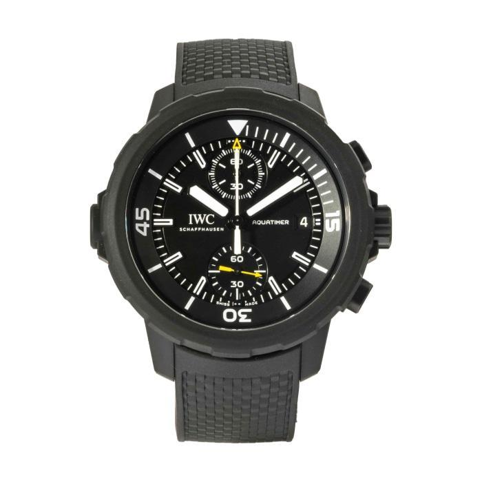 IWC Aquatimer Chronograph Edition Galapagos Islands Stainless Steel with vulcanized black rubber-coating 45mm ref. IW379502 - Boston