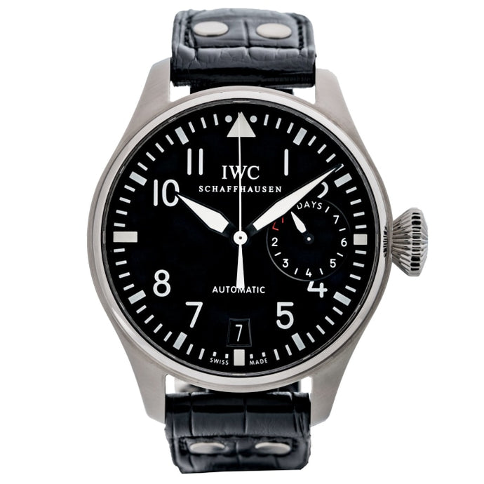 Pre-owned IWC Big Pilot Black Dial Stainless Steel 46mm (IW500901) - Boston